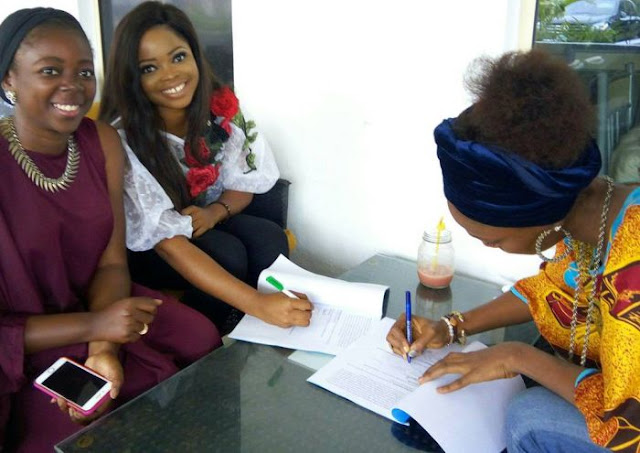 Jenifa's Diary Actress, Toyo Baby, Bags Ambassadorial Deal With SCAF Nigeria (Photos)