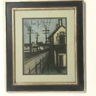 "Bernard Buffet ""Village Road"" Lithograph"
