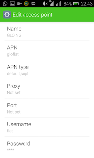 APN settings for  Glo Unlimited free browsing