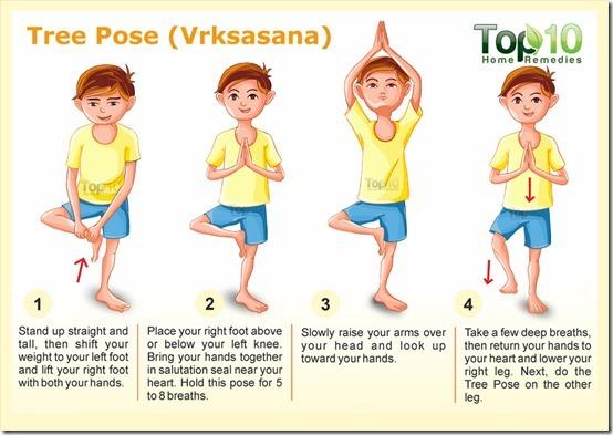 Asanas de Yoga resumidas para niños4.