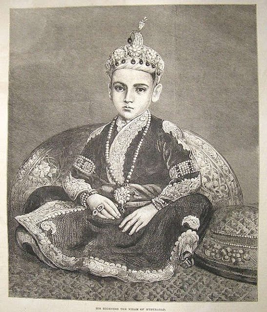 """His Highness the Nizam of Hyderabad,"" from the Illustrated London News, 1876"