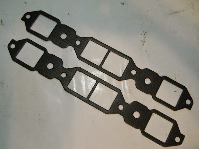 ING-B Composite intake gaskets for 57-66 364-401-425 engines. 18.00 a set.