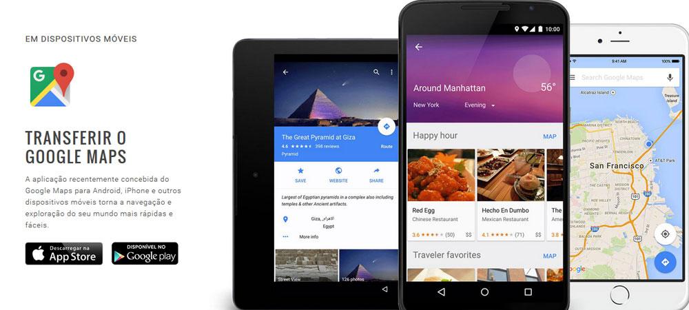 Apps de viagem Google Maps
