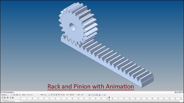 Rack and Pinion with Animation