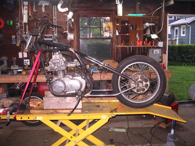 KZ400 Hardtail Bobber Finally Finished