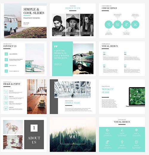 Plantilla limpia, simple y bonita, para presentación PowerPoint