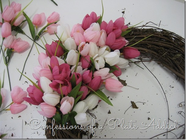 CONFESSIONS OF A PLATE ADDICT DIY Spring Tulip Wreath tutorial 2