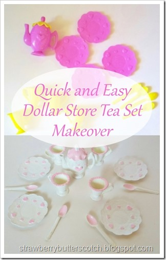 Quick and Easy Dollar Store Tea Set Makeover