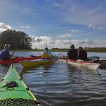 041-We paddelen door het mooie Noordwaard vaarwater.