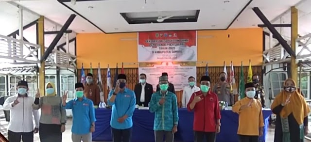 Sukseskan Pilbup, Pemkab Sambas Gelar Deklarasi Pilkada Damai