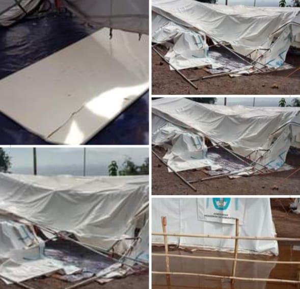 Wilayah Bekas Dampak Badai Seroja di Alor Kembali Diguyur Hujan dan Angin Kencang, Tenda Darurat SDN Warbadi Rata Tanah