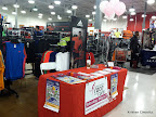 My table at Sports Authority. I was there to recruit participants for the 2013 Race for the Cure at their Re-Grand Opening.