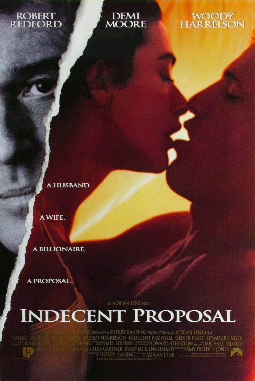 Poster Of Indecent Proposal (1993) Full Movie Hindi Dubbed Free Download Watch Online At Alldownloads4u.Com