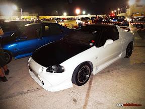 White Honda CR-X Del Sol