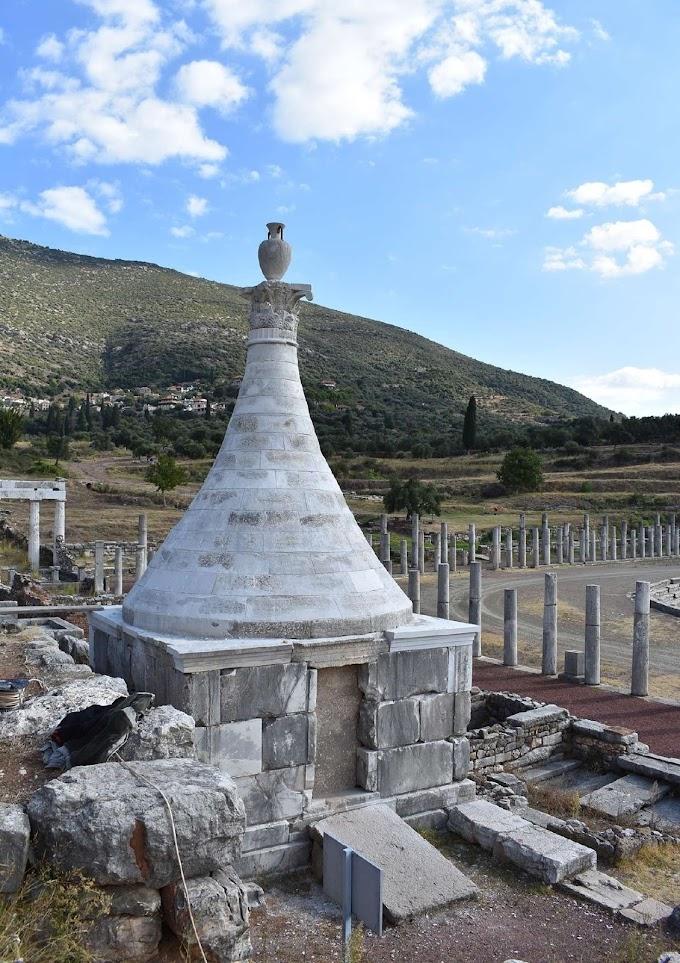 Ένα εξαιρετικό  ταφικό μνημείο, στο Γυμνάσιο της αρχαίας Μεσσήνης