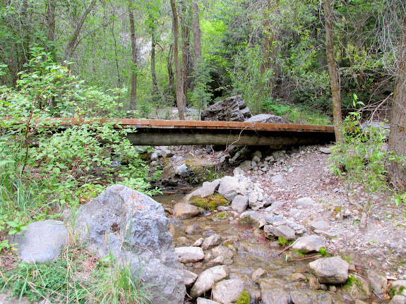 Bridge over the creek in Rock Canyon