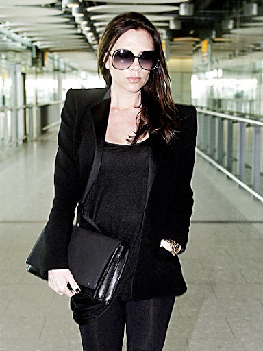 victoria beckham pregnant photos. dinner date news David