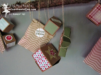 stampin up, adventskalender, advent calender, 24 türchen, 25 days