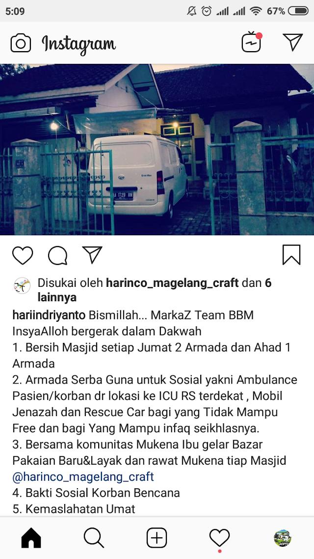 Markas Tim Bersih-bersih Masjid Magelang