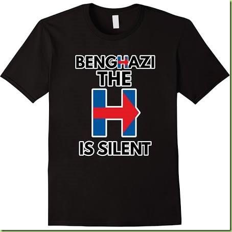 hillary tee shirt silent h