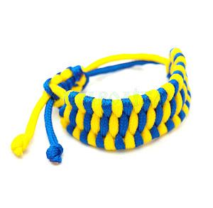 Браслет синьо-жовтий плетений