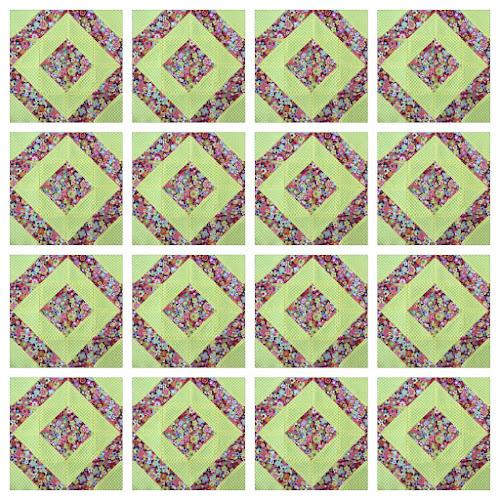 Block 16: 16 HST quilt sampler tutorial