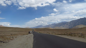 Deserted and flat on the top of the world