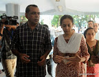 Lok Sabha Elections 2014: Paresh Rawal and his wife cast their votes at Jamnabhai Narsee School in Juhu. On 24/04/2014 PIC/NIMESH DAVE