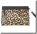 Dune Leopard Print Clutch Bag