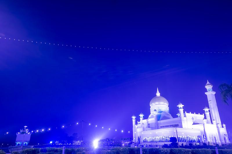 ブルネイ オールドモスク ライトアップ8
