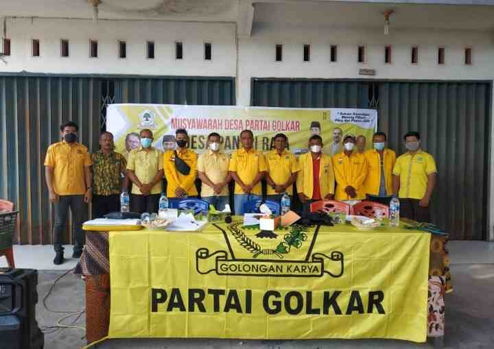 Musyawarah Desa (Musdes) Partai Golkar Berjalan Dengan Sukses.