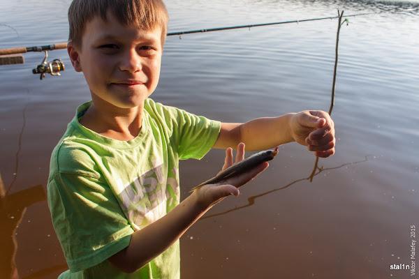 Перша риба - плотва