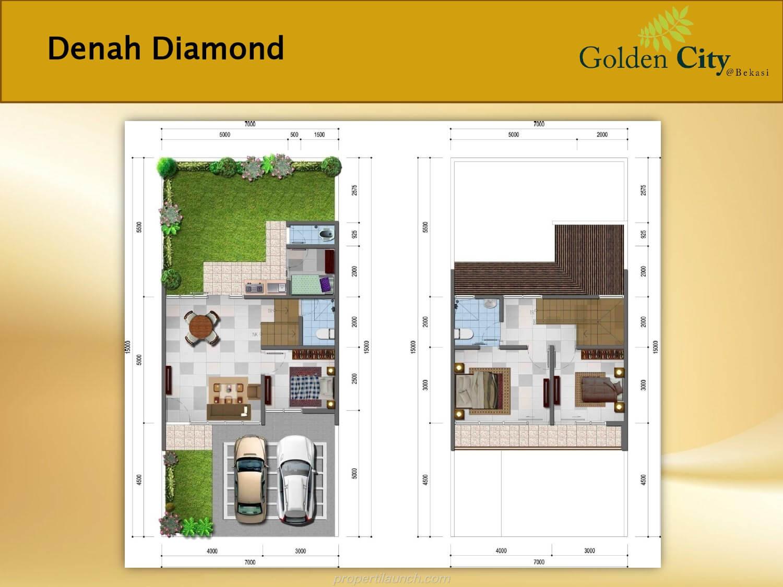 Denah Rumah Diamond Cluster Diamond Golden City Bekasi