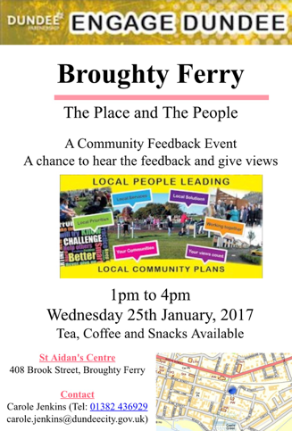 Engage Broughty Ferry Event January 2017