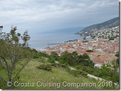 Croatia Cruising Companion - Senj, Castle view