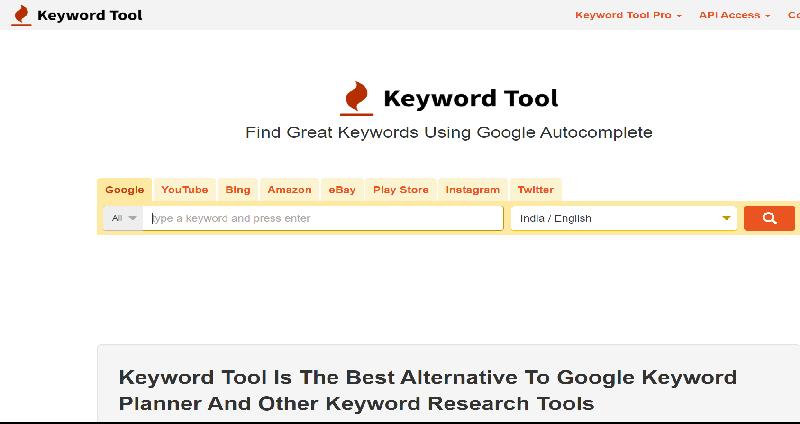 10 Best Keyword research tools-8.keywordTool