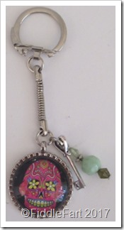 Day of The Dead Skull Keyring