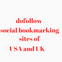 UK and USA dofollow social bookmarking sites list