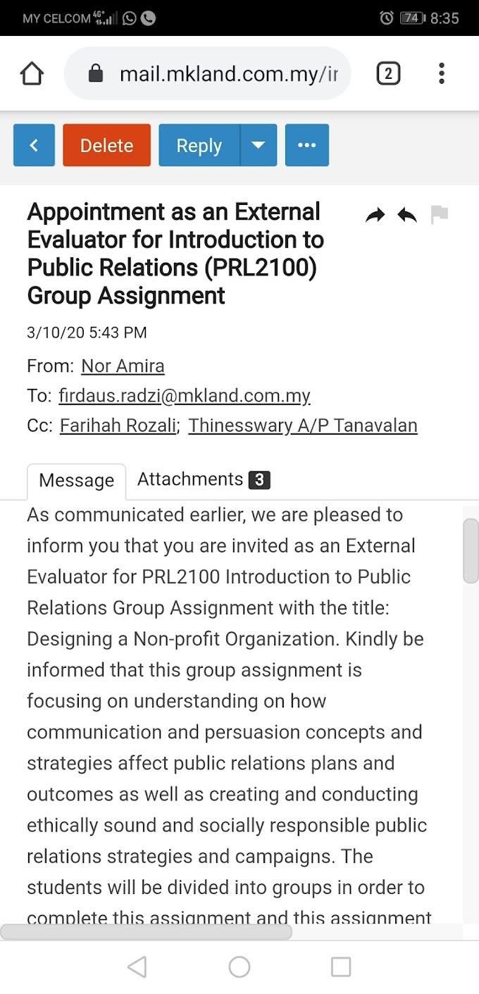 Dijemput Sebagai External Evaluator