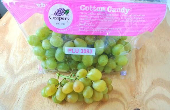 Cotton candy grapes bag
