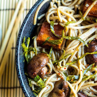 """Let's Do It Again"" Stir-Fried Soba Noodles With Sweet Potatoes and Collard Greens."
