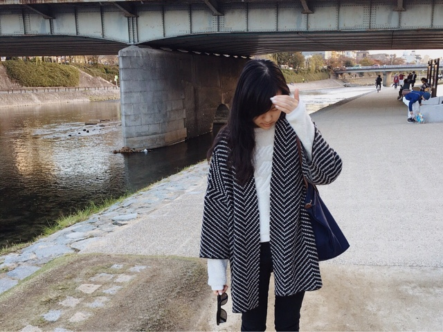 kamo river, geisha district gion, ootd outfit of the day, travelling in japan