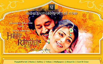 Heer Ranjha Film Website Design