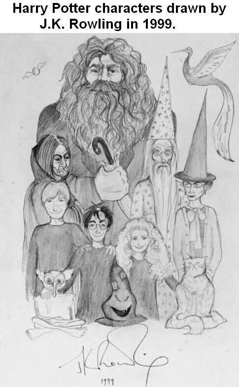 Harry Potter Mundogift: Los dibujos de J.K.Rowling