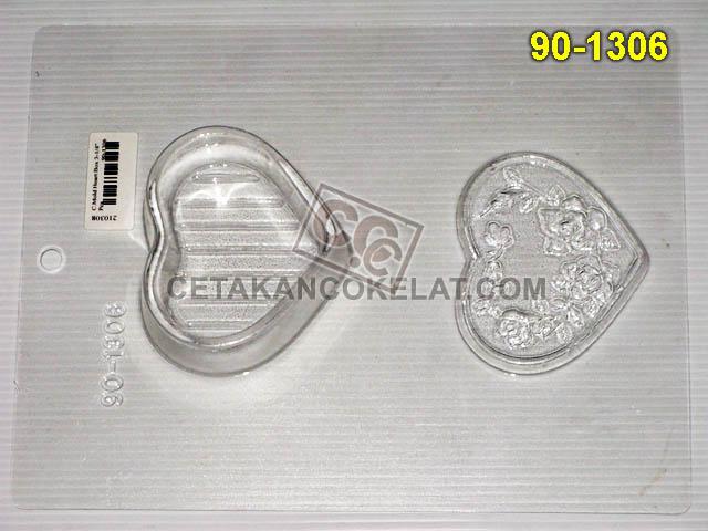 Cetakan Coklat 90-1306 cokelat love pour box