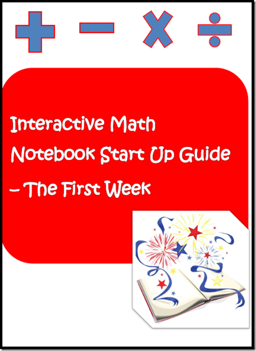 Free interactive math notebook set up guide from Raki's Rad Resources.