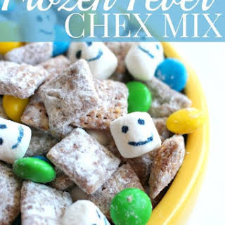 Frozen Fever Inspired Chex Mix.