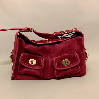 Coach Pink Suede Bag