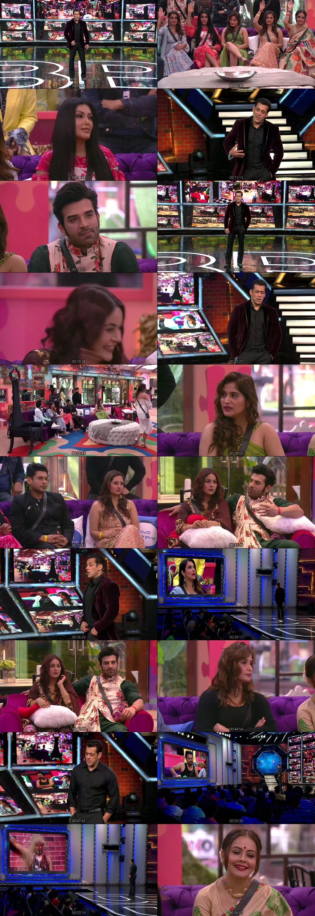Screenshots Of Hindi Show Bigg Boss 13 5th October 2019 Episode 06 300MB 480P HD