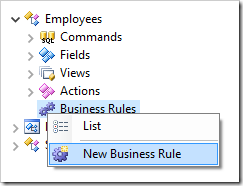 Adding a new business rule to Employees controller.